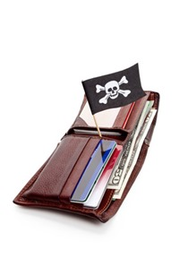 Pirate Flag and Wallet
